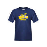 Youth Navy T Shirt-Soccer