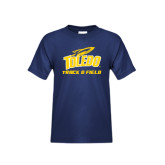 Youth Navy T Shirt-Track and Field
