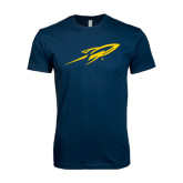 Next Level SoftStyle Navy T Shirt-Rocket
