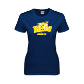 Ladies Navy T Shirt-Golf