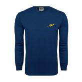 Navy Long Sleeve T Shirt-Rocket