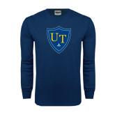 Navy Long Sleeve T Shirt-University Mark