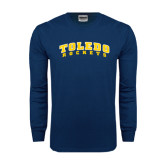 Navy Long Sleeve T Shirt-Arched Toledo Rockets