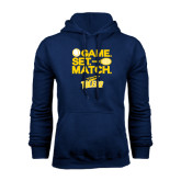 Navy Fleece Hoodie-Game Set Match