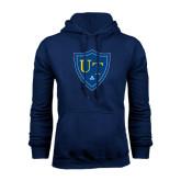 Navy Fleece Hoodie-University Mark