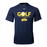 Under Armour Navy Tech Tee-Stacked Golf Design