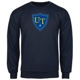 Navy Fleece Crew-University Mark