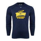 Under Armour Navy Long Sleeve Tech Tee-Swimming and Diving
