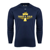 Under Armour Navy Long Sleeve Tech Tee-Track and Field