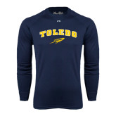 Under Armour Navy Long Sleeve Tech Tee-Arched Toledo w/ Rocket