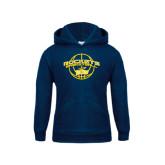 Youth Navy Fleece Hoodie-Basketball