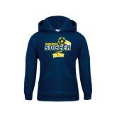 Youth Navy Fleece Hoodie-Soccer