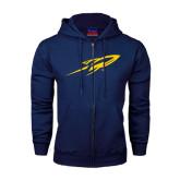Navy Fleece Full Zip Hoodie-Rocket