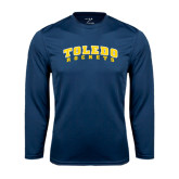 Syntrel Performance Navy Longsleeve Shirt-Arched Toledo Rockets