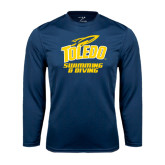 Syntrel Performance Navy Longsleeve Shirt-Swimming and Diving