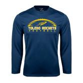 Syntrel Performance Navy Longsleeve Shirt-Football