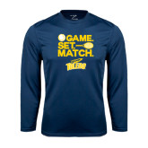 Syntrel Performance Navy Longsleeve Shirt-Game Set Match