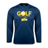 Syntrel Performance Navy Longsleeve Shirt-Stacked Golf Design