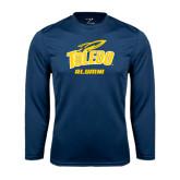 Syntrel Performance Navy Longsleeve Shirt-Alumni