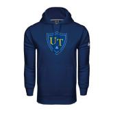 Under Armour Navy Performance Sweats Team Hoodie-University Mark