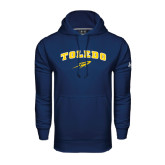 Under Armour Navy Performance Sweats Team Hoodie-Arched Toledo w/ Rocket