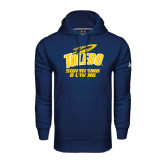 Under Armour Navy Performance Sweats Team Hoodie-Swimming and Diving