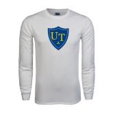 White Long Sleeve T Shirt-University Mark
