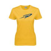 Ladies Gold T Shirt-Rifle