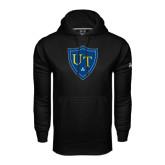 Under Armour Black Performance Sweats Team Hoodie-University Mark