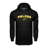 Under Armour Black Performance Sweats Team Hoodie-Arched Toledo w/ Rocket