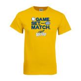 Gold T Shirt-Game Set Match