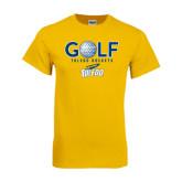 Gold T Shirt-Stacked Golf Design