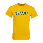 Gold T Shirt-Arched Toledo Rockets