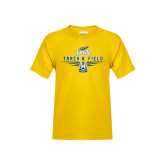 Youth Gold T Shirt-Track and Field