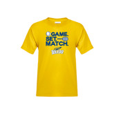 Youth Gold T Shirt-Game Set Match