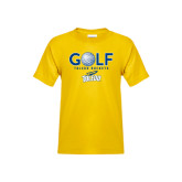 Youth Gold T Shirt-Stacked Golf Design