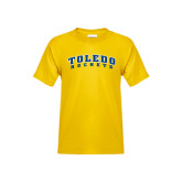 Youth Gold T Shirt-Arched Toledo Rockets