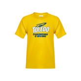 Youth Gold T Shirt-Swimming and Diving