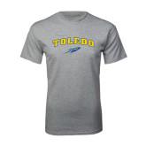 Grey T Shirt-Arched Toledo w/ Rocket