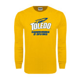 Gold Long Sleeve T Shirt-Swimming and Diving