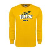 Gold Long Sleeve T Shirt-Golf