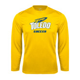 Syntrel Performance Gold Longsleeve Shirt-Soccer
