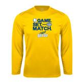 Syntrel Performance Gold Longsleeve Shirt-Game Set Match
