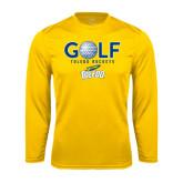 Syntrel Performance Gold Longsleeve Shirt-Stacked Golf Design