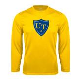 Syntrel Performance Gold Longsleeve Shirt-University Mark