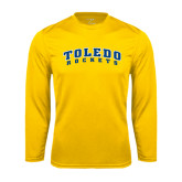 Syntrel Performance Gold Longsleeve Shirt-Arched Toledo Rockets