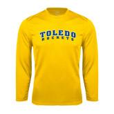 Syntrel Performance Gold Longsleeve Shirt-Arched Toledo Rockets
