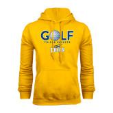 Gold Fleece Hoodie-Stacked Golf Design