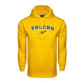 Under Armour Gold Performance Sweats Team Hoodie-Arched Toledo w/ Rocket