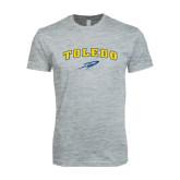 Next Level SoftStyle Heather Grey T Shirt-Arched Toledo w/ Rocket